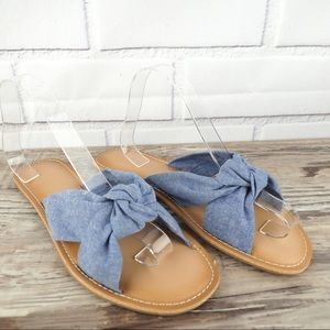 Old Navy sz 10 chambray knot sandals